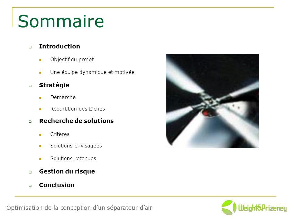 Sommaire Introduction Stratégie Recherche de solutions