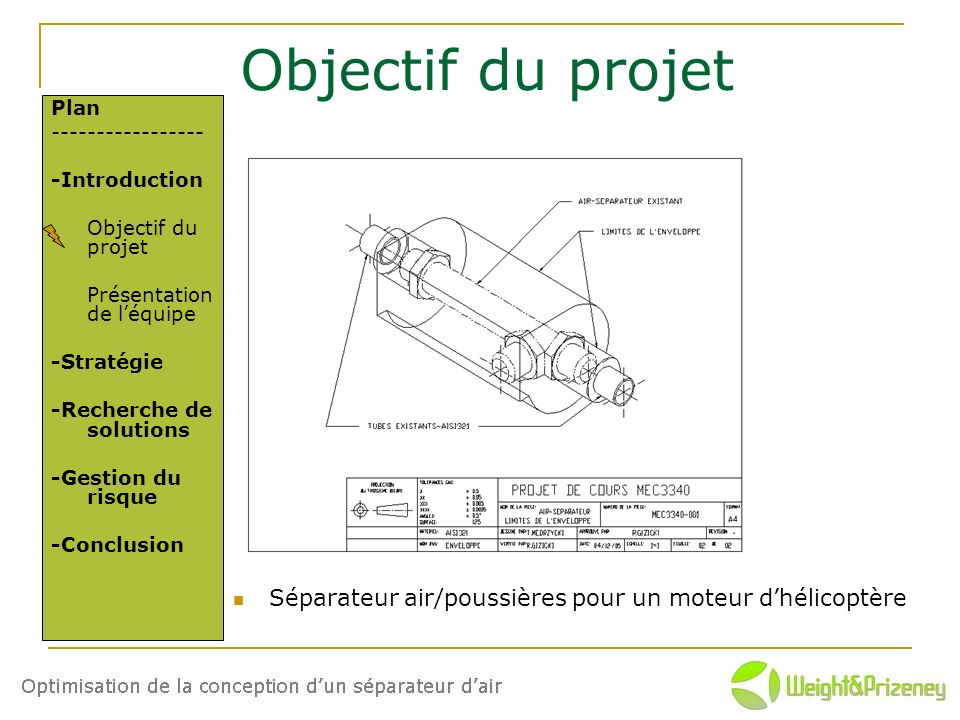 3/17 Objectif du projet. Plan. ----------------- -Introduction. Objectif du projet. Présentation de l'équipe.