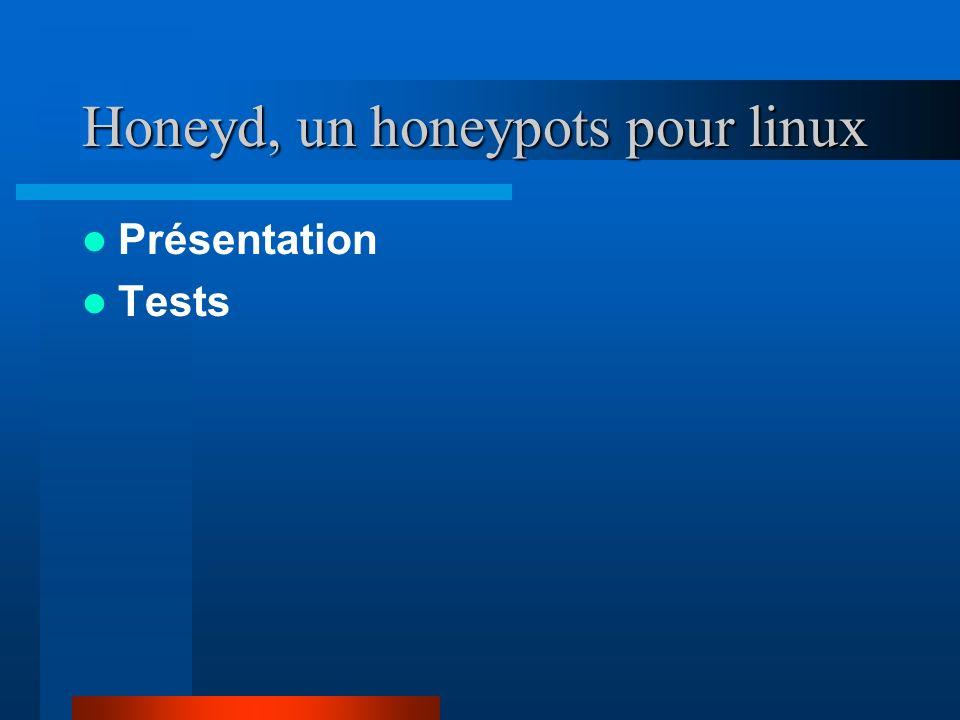 Honeyd, un honeypots pour linux