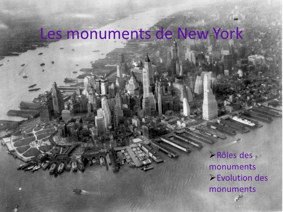 Les monuments de New York