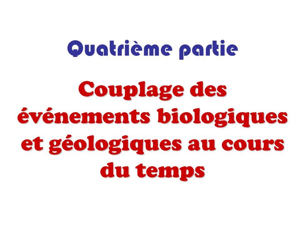 Couplage des événements biologiques et géologiques au cours du temps