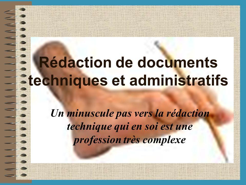 Rédaction de documents techniques et administratifs