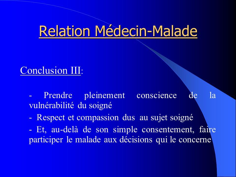 Relation Médecin-Malade
