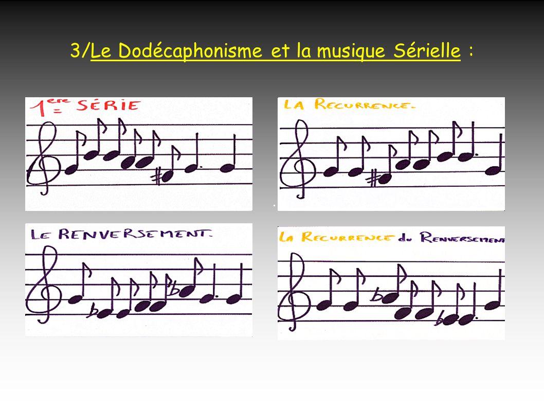 3/Le Dodécaphonisme et la musique Sérielle :