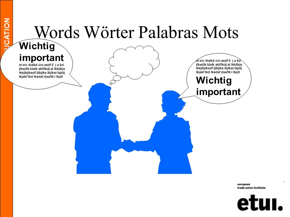 Words Wörter Palabras Mots