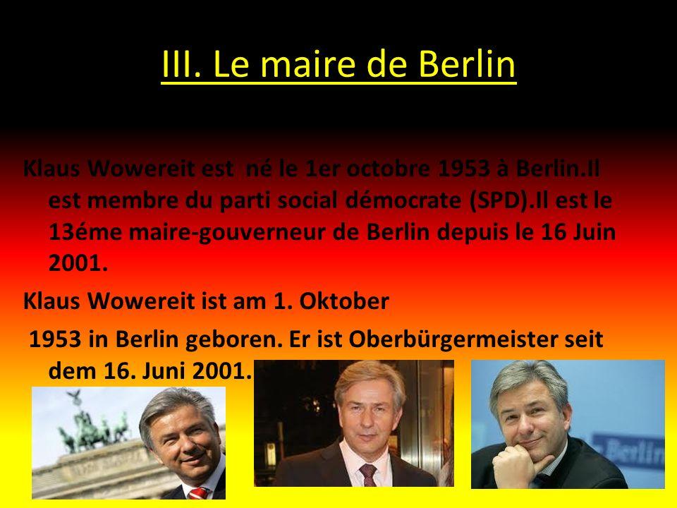 III. Le maire de Berlin