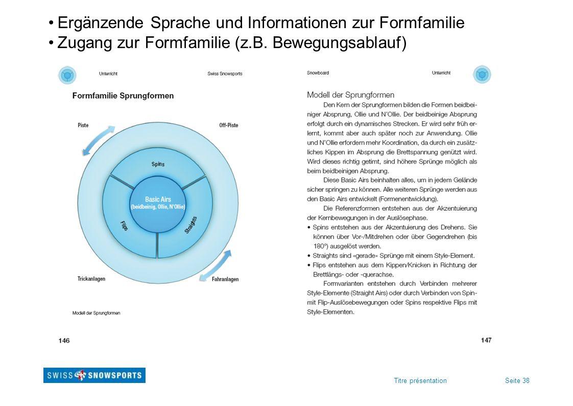 Ergänzende Sprache und Informationen zur Formfamilie