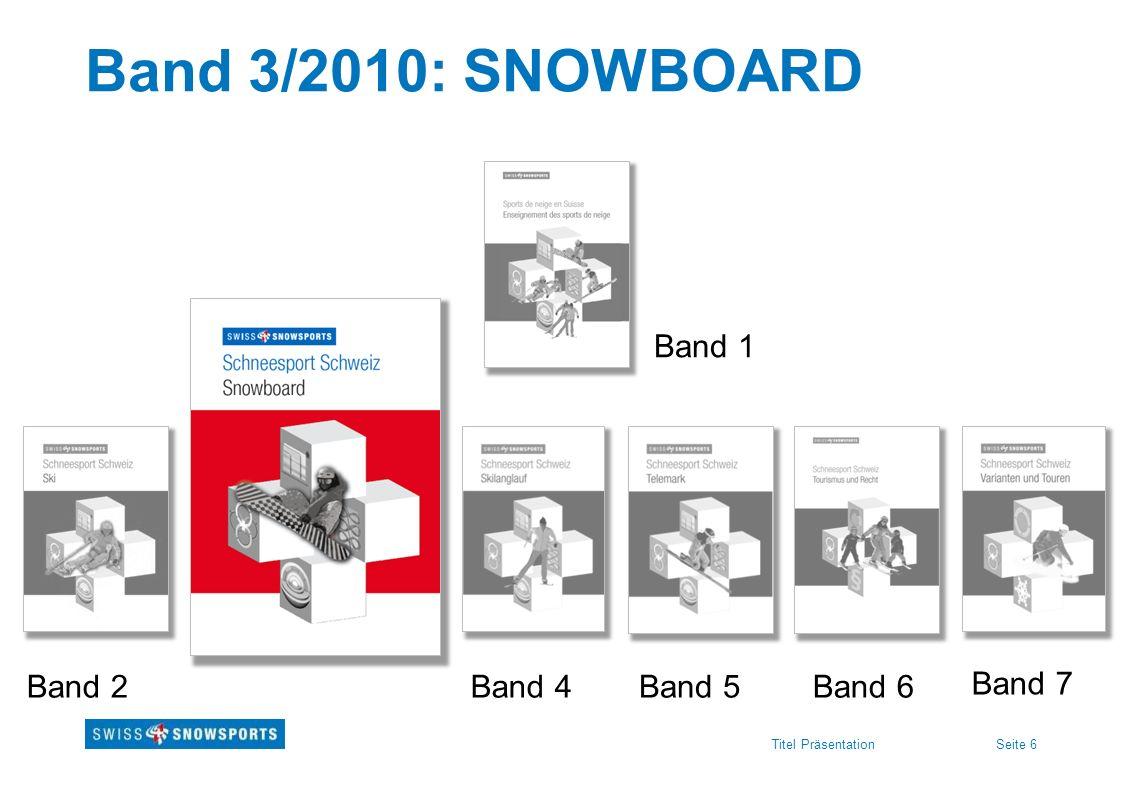 Band 3/2010: SNOWBOARD Band 1 Band 2 Band 4 Band 5 Band 6 Band 7
