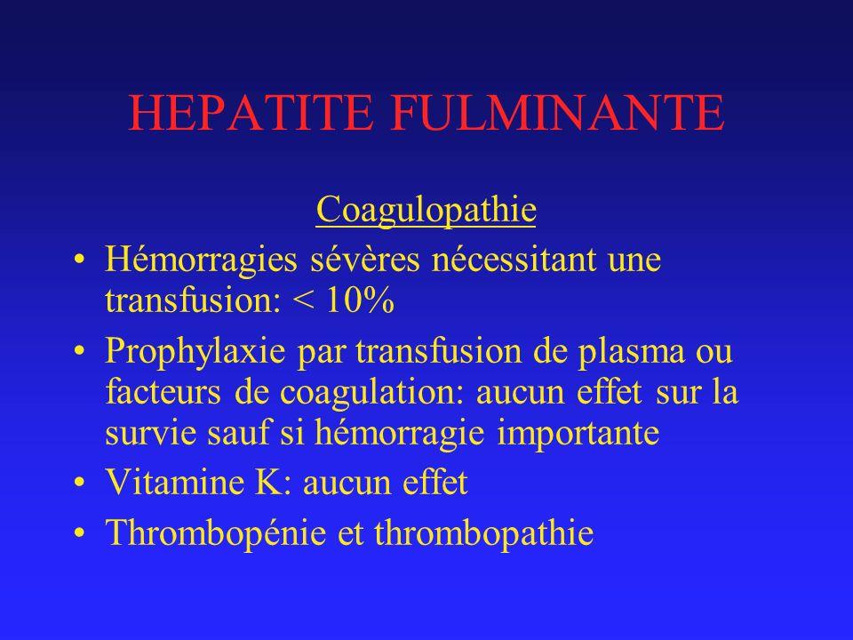 HEPATITE FULMINANTE Coagulopathie