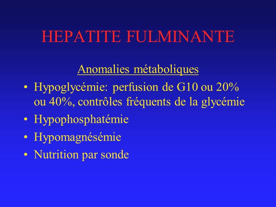 Anomalies métaboliques