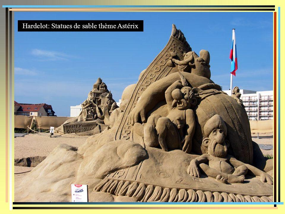 Hardelot: Statues de sable thème Astérix