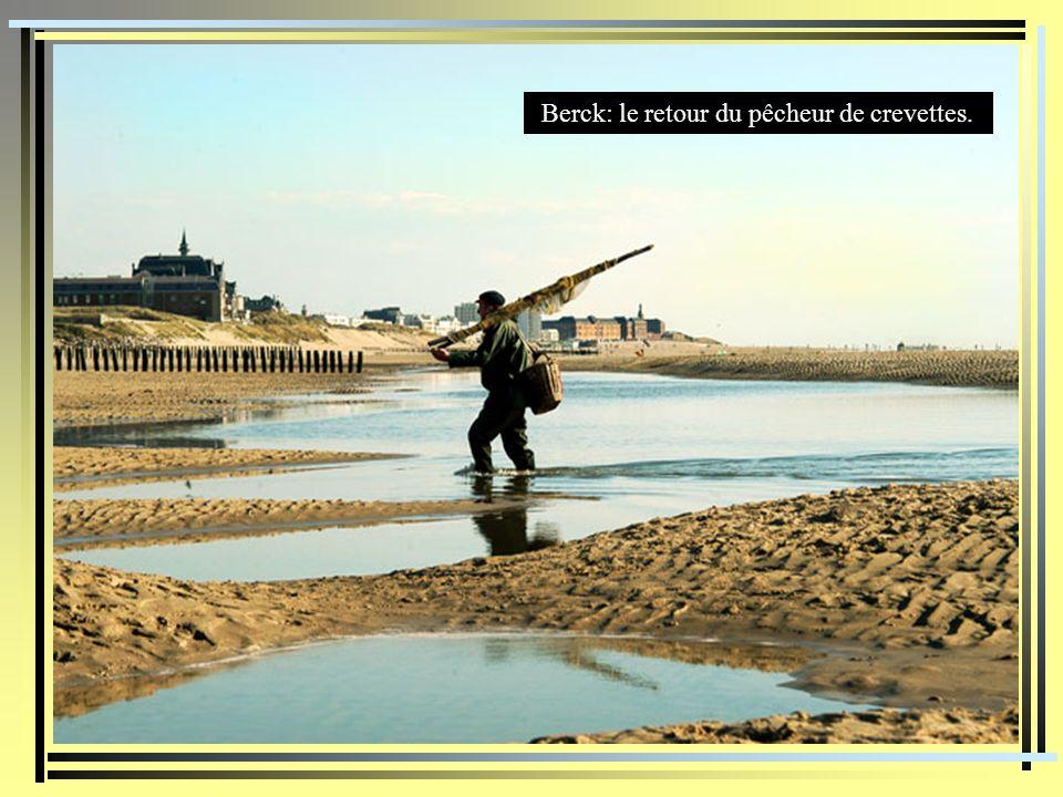 Berck: le retour du pêcheur de crevettes.