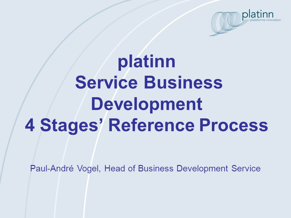 platinn Service Business Development 4 Stages' Reference Process