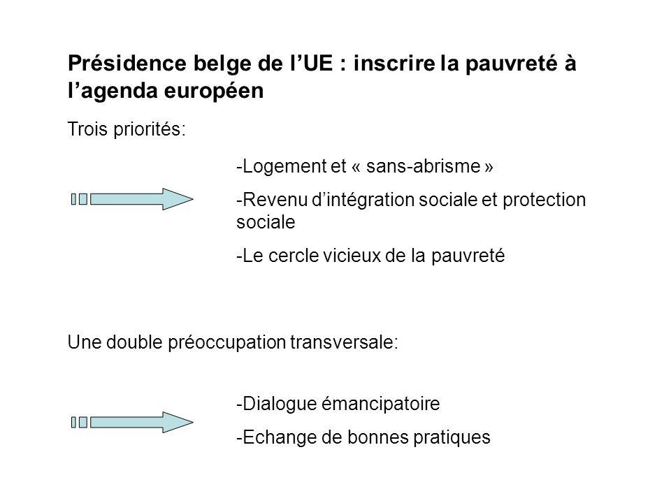 Présidence belge de l'UE : inscrire la pauvreté à l'agenda européen