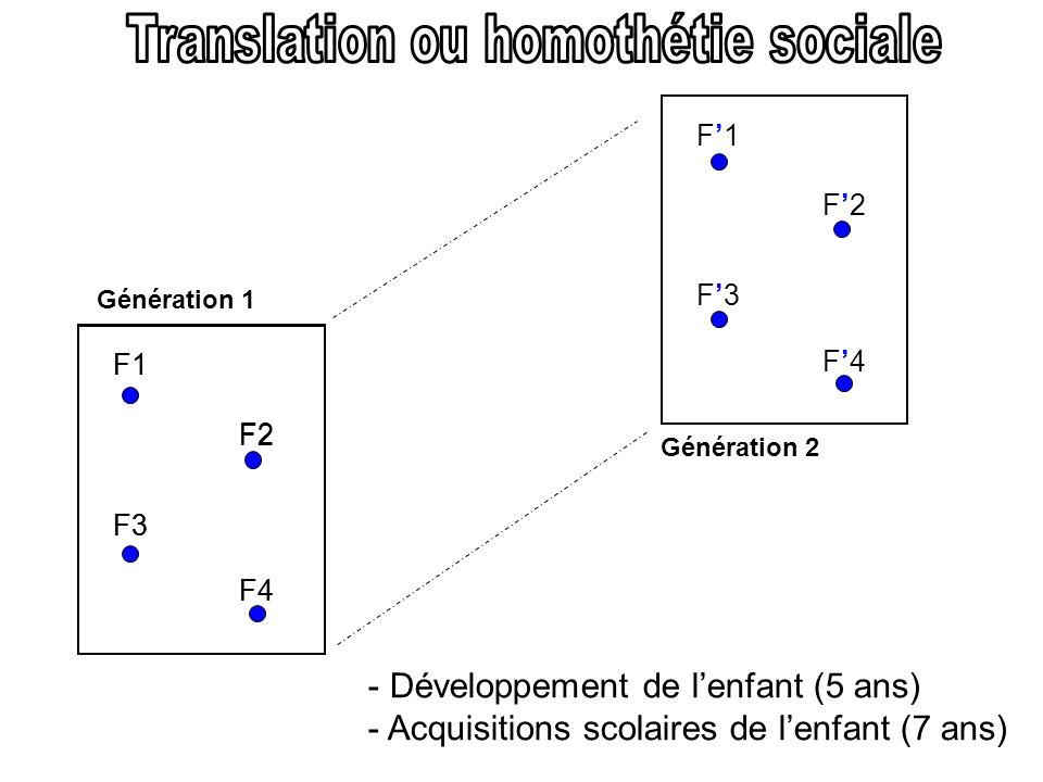 Translation ou homothétie sociale
