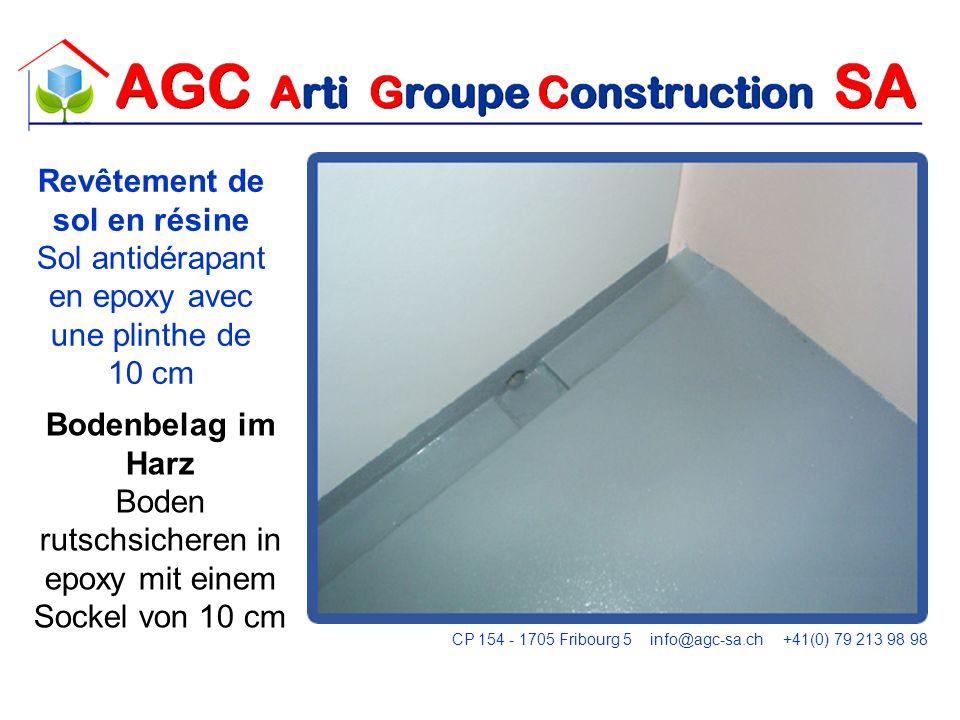 CP 154 - 1705 Fribourg 5 info@agc-sa.ch +41(0) 79 213 98 98