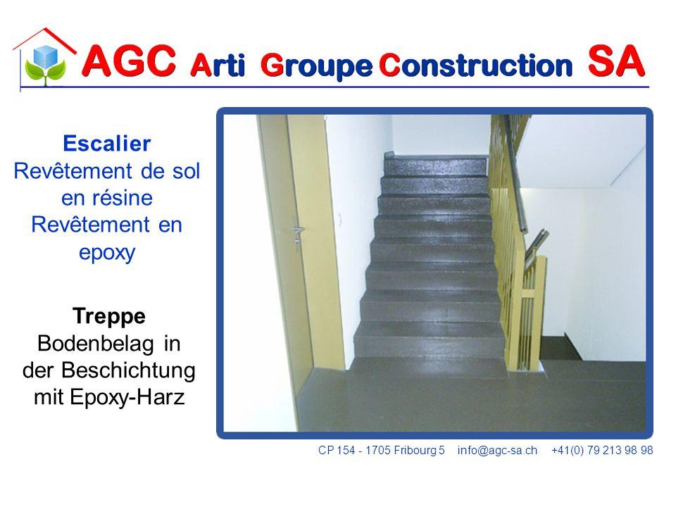 Escalier Revêtement de sol en résine Revêtement en epoxy