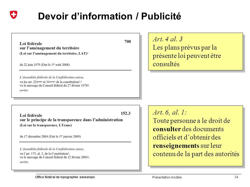 Devoir d'information / Publicité