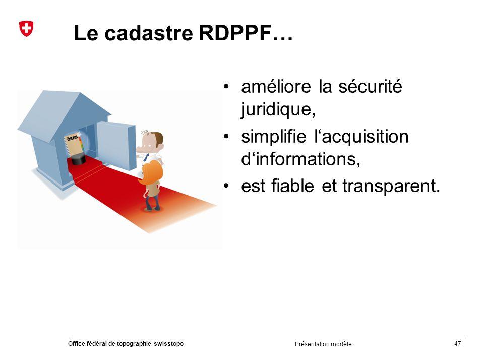 Le cadastre RDPPF… améliore la sécurité juridique,