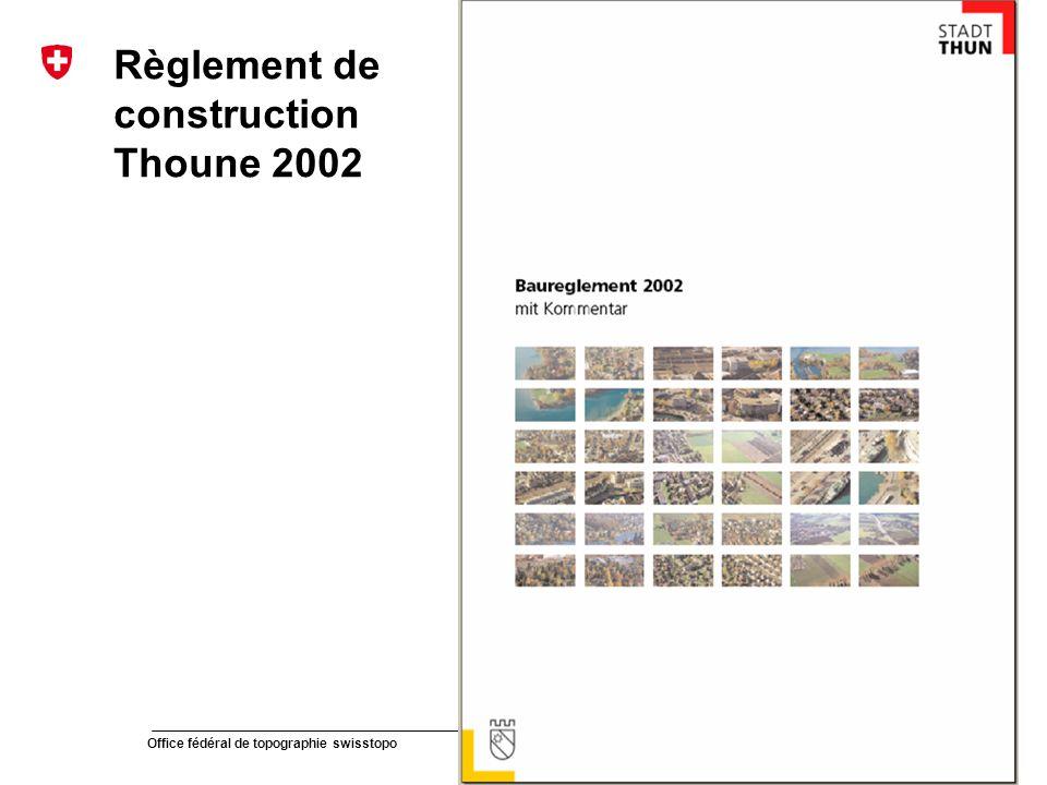 Règlement de construction Thoune 2002