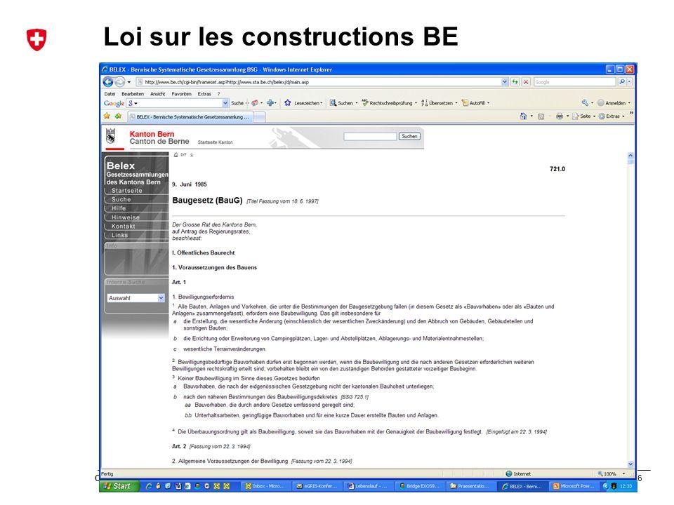 Loi sur les constructions BE