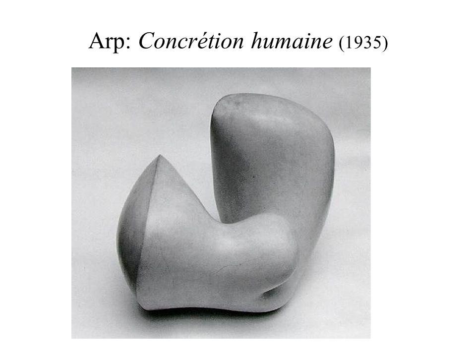 Arp: Concrétion humaine (1935)