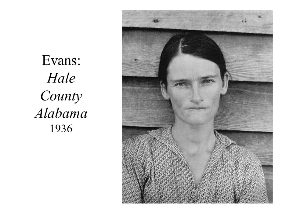Evans: Hale County Alabama 1936