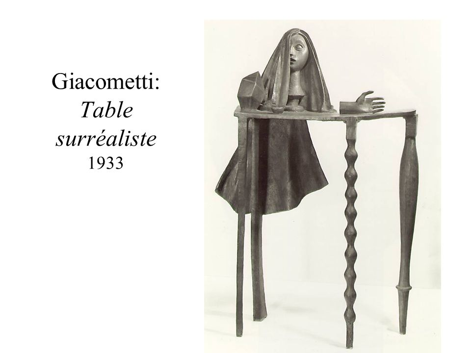Giacometti: Table surréaliste 1933