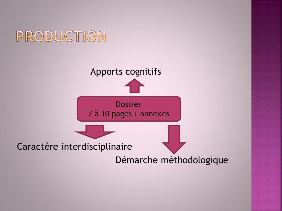 Apports cognitifs Caractère interdisciplinaire Démarche méthodologique