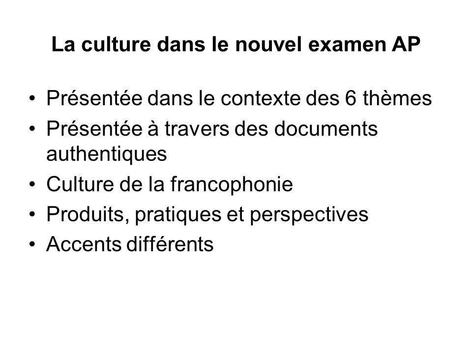 La culture dans le nouvel examen AP