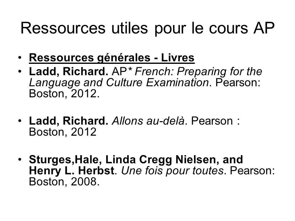 Ressources utiles pour le cours AP