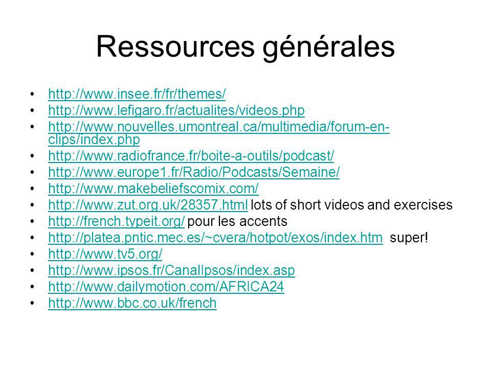 Ressources générales http://www.insee.fr/fr/themes/