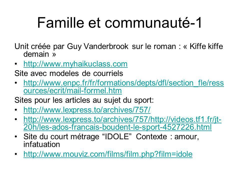 Famille et communauté-1