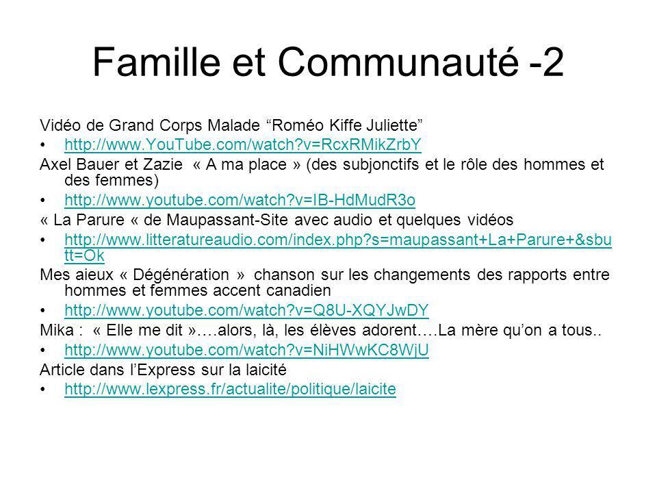 Famille et Communauté -2