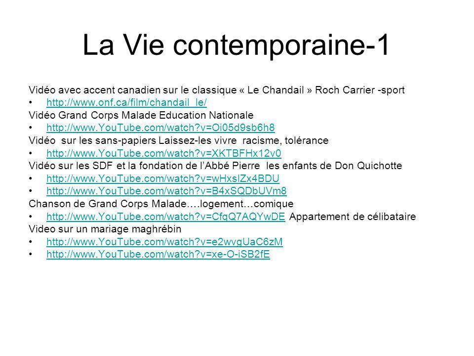 La Vie contemporaine-1 Vidéo avec accent canadien sur le classique « Le Chandail » Roch Carrier -sport.