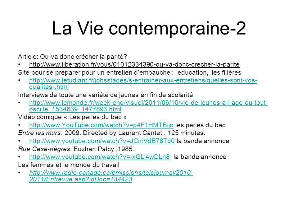 La Vie contemporaine-2 Article: Ou va donc crécher la parité