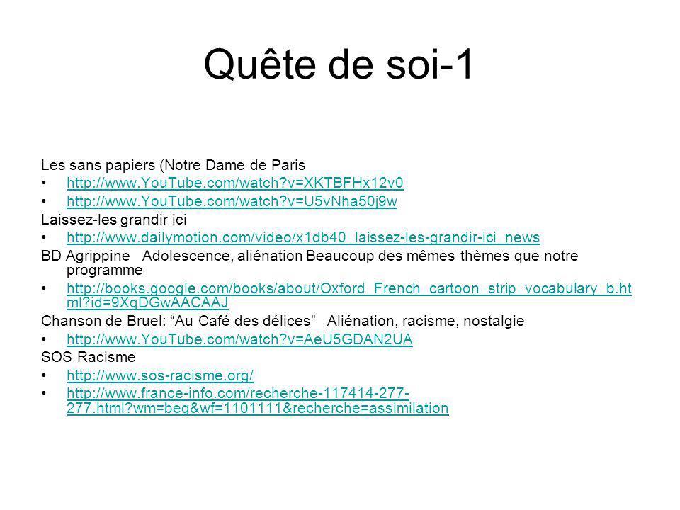 Quête de soi-1 Les sans papiers (Notre Dame de Paris