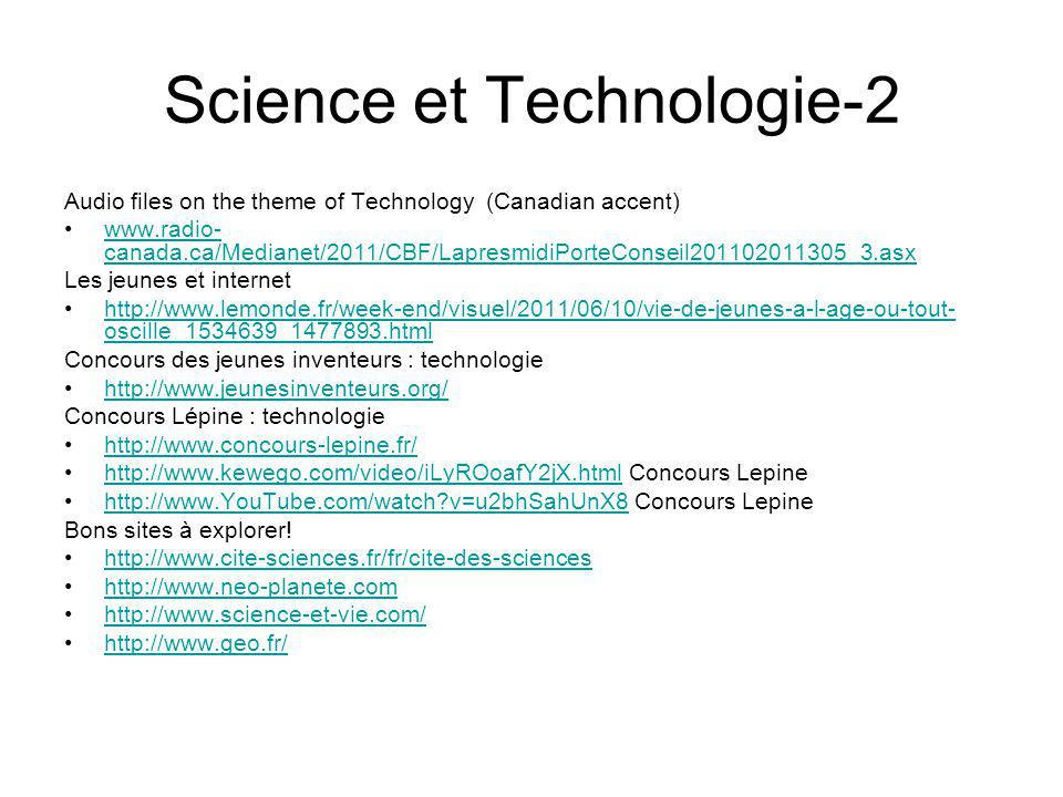 Science et Technologie-2