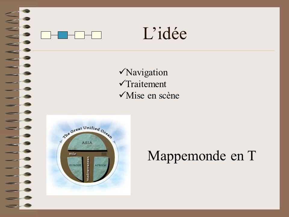 L'idée Mappemonde en T Navigation Traitement Mise en scène