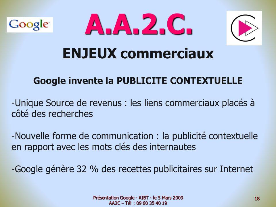 Google invente la PUBLICITE CONTEXTUELLE