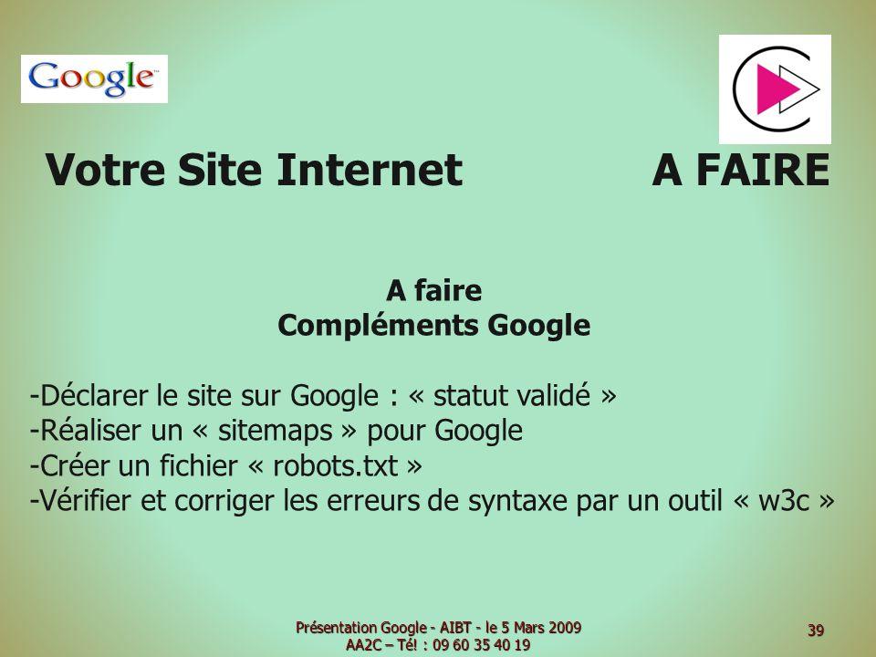 Votre Site Internet A FAIRE