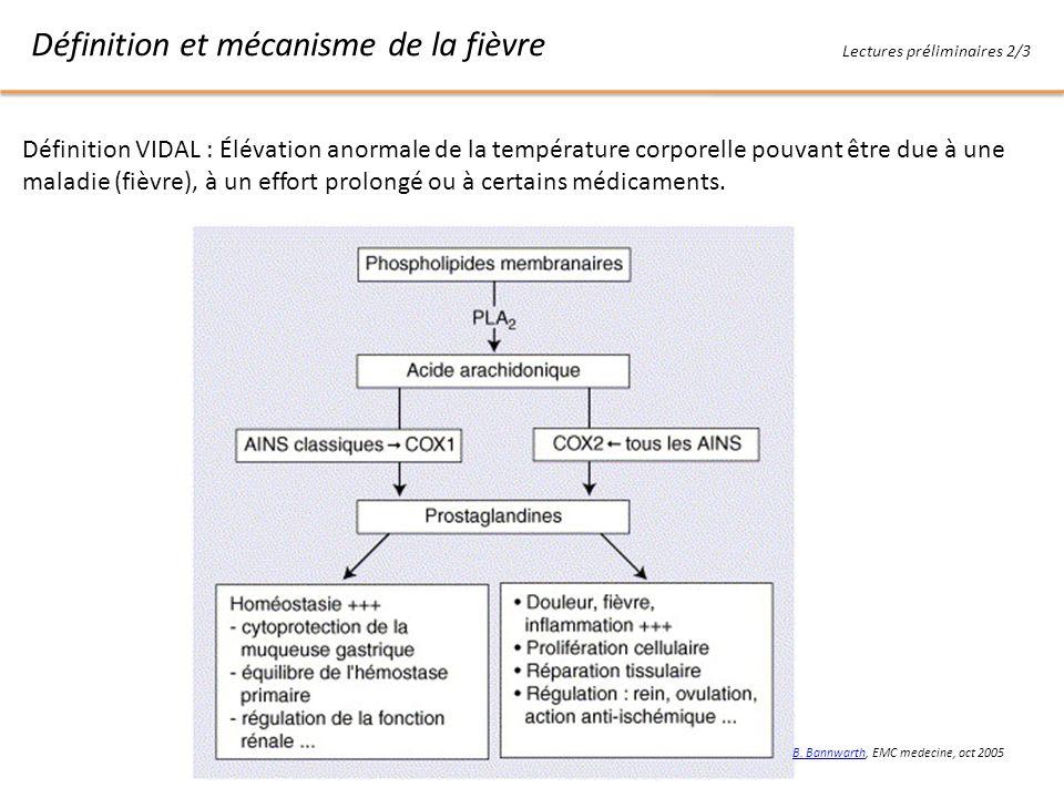 Définition et mécanisme de la fièvre