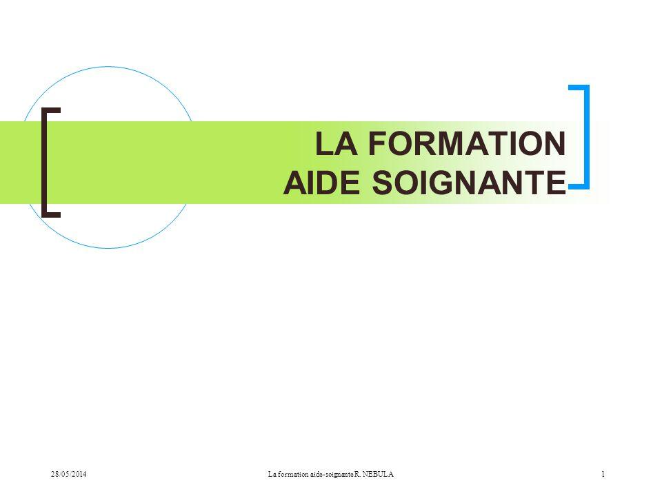 LA FORMATION AIDE SOIGNANTE