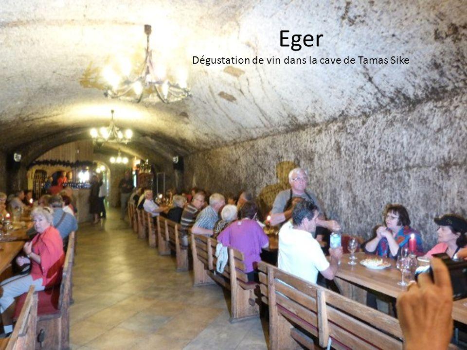 Dégustation de vin dans la cave de Tamas Sike