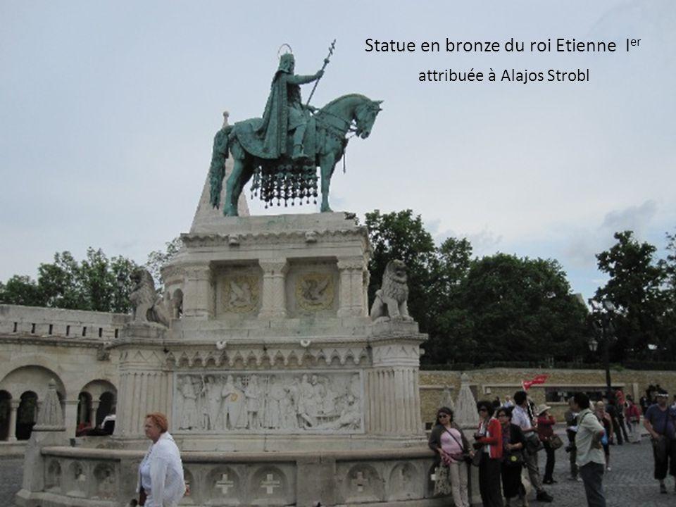 Statue en bronze du roi Etienne Ier attribuée à Alajos Strobl