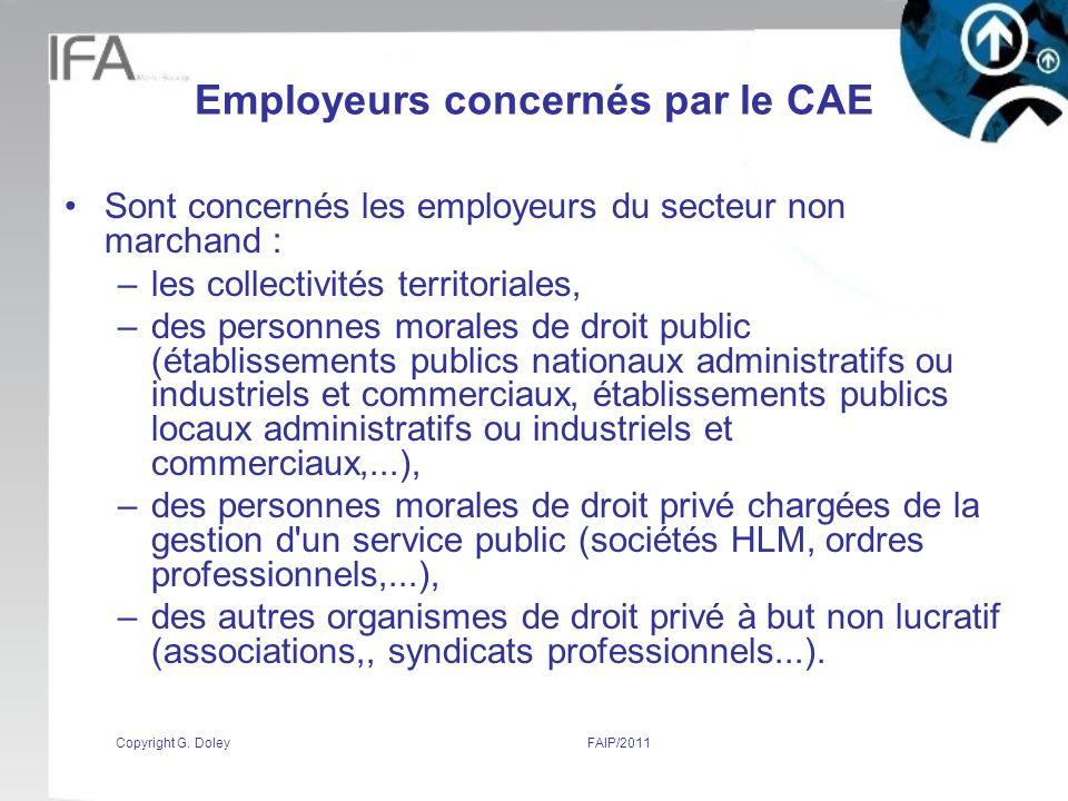 Employeurs concernés par le CAE