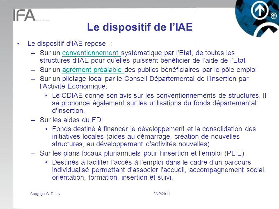 Le dispositif de l'IAE Le dispositif d'IAE repose :