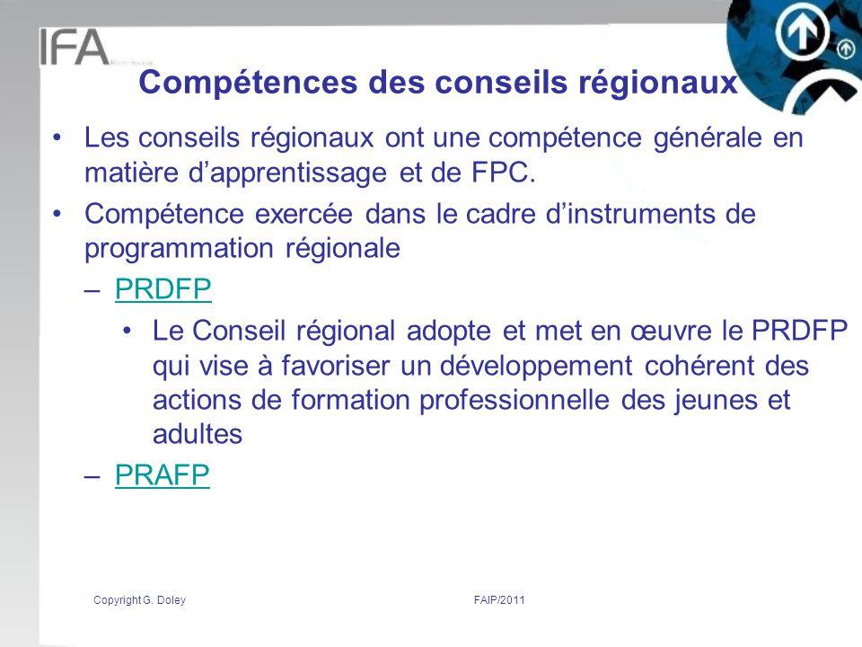 Compétences des conseils régionaux
