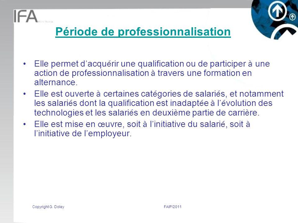 Période de professionnalisation