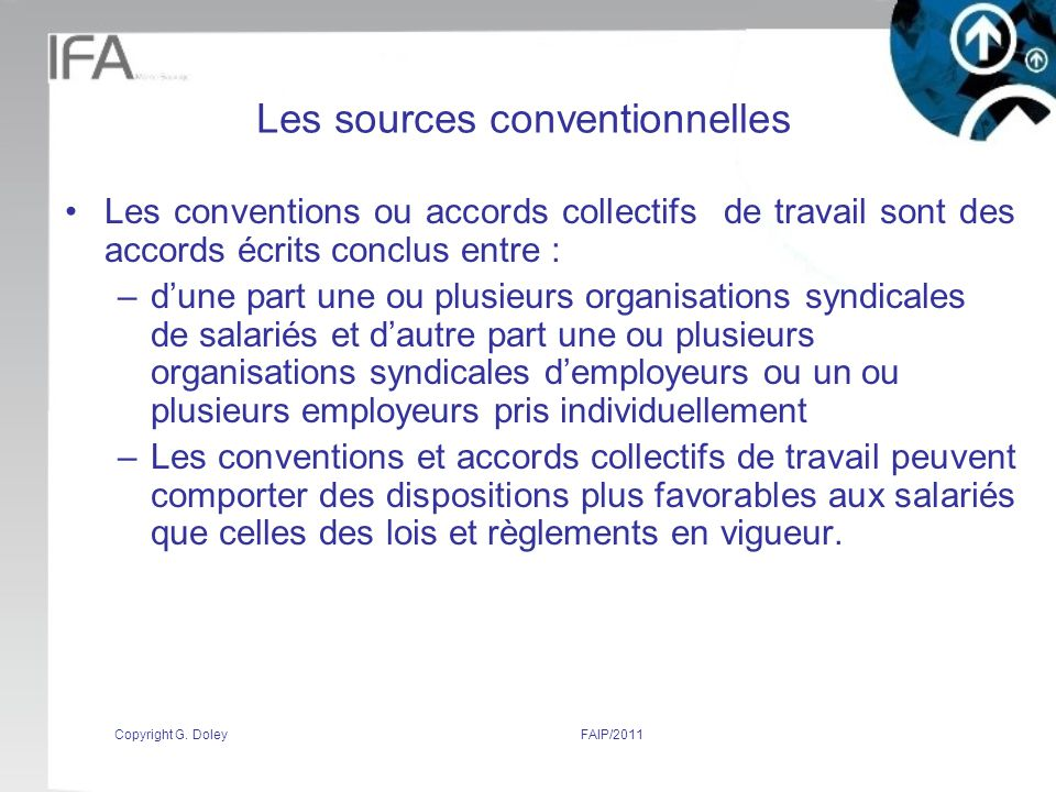Les sources conventionnelles